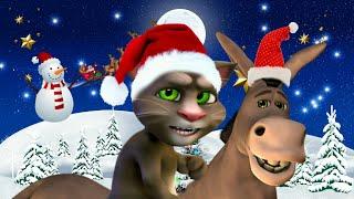con mi burrito sabanero voy camino a Belén - canciones navideñas / gato Tom