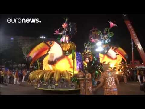Rio carnival crash: at least a dozen people injured after float hits barrie