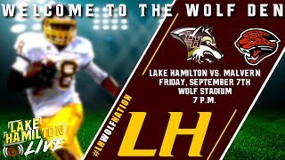 Lake Hamilton Wolves Varsity Football Vs. Malvern Leopards | September 7, 2018