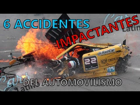 6 Accidentes Impactantes del Automovilismo *CarsLatino*