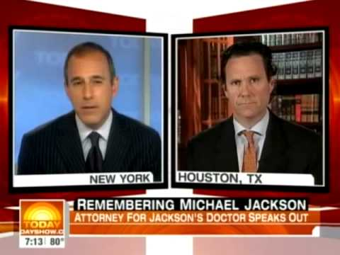 Houston Defense Attorney Ed Chernoff Talks to Matt Lauer About Jackson Death