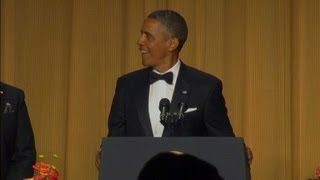 """Raw Video: President Obama's """"new entrance music"""" (WH Correspondents' Dinner 2013)"""