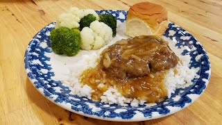 Salisbury Steak Baked Or Fried (Quick Version - Recipe Only) The Hillbilly Kitchen