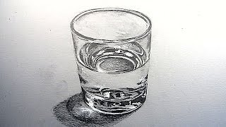 Bagaimana Menggambar Segelas Air