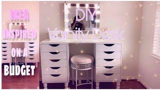 DIY Vanity Desk | IKEA Inspired | On A Budget