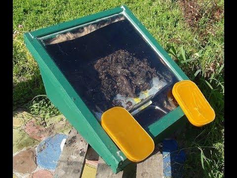 Солнечная воскотопка .Пчелиный воск. Продукт пчеловодства.