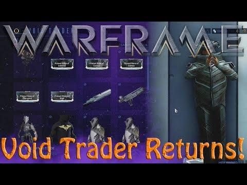 Warframe - Void Traders Returned! 117th Rotation