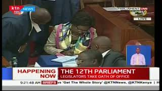 The 12th Parliament:  Senators take their oath of office