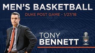 MEN'S BASKETBALL: Duke Post Game - Tony Bennett