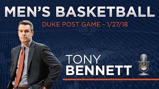 MEN'S BASKETBALL: Duke Post Game - Tony Bennett