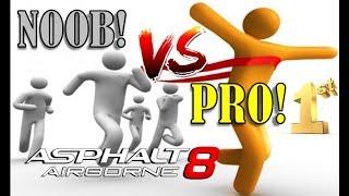 Asphalt 8 Multiplayer - NOOB vs PRO...What