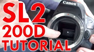 Canon EOS Rebel SL2/200D Tutorial