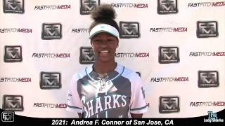 2021 Andrea F. Connor Athletic Outfielder Softball Skills Video - San Jose Lady Sharks 18 Gold