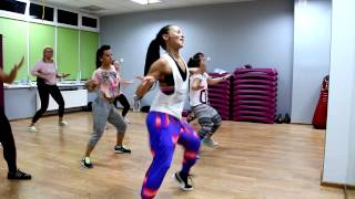 preview picture of video 'Wah Gwan Dancehall 2014 z Agnieszką Bota w Endorfina Fitness Club Świętochłowice'