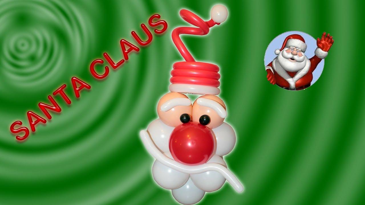 Decoraciones Navideñas Santa Claus en Globos San Nicolas Parte I
