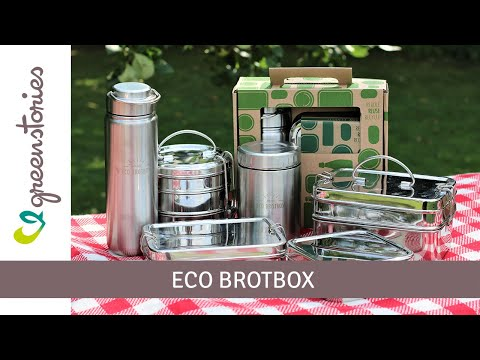 ECO Brotbox | Edelstahl Trinkflasche + Brotdose | plastikfrei