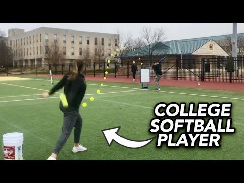 Playing Blitzball Against College Softball Players