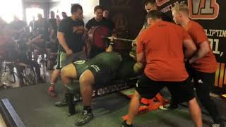 Julius Maddox Heaviest Ever Bench Press