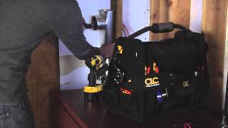 CLC Tech Gear Lighted Dual Compartment 56-Pocket 18″ Tool Carrier