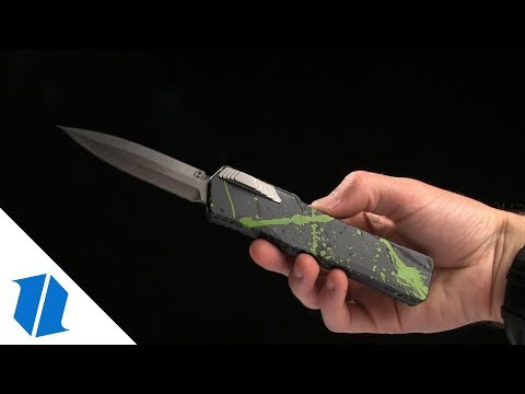 "Heretic Knives Cleric Tanto OTF Automatic Knife OD Green (3.5"" Stonewash)"