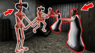 Baby Granny vs Siren Head, Baldi, Piggy - funny horror animation parody (part 20)