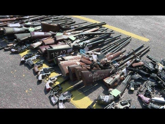 الجيش البرازيلي يدمر كميات كبيرة من الأسلحة غير الشرعية