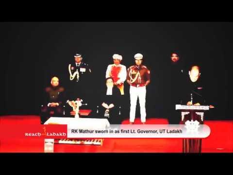 Radha Krishna Mathur sworn in as first Lieutenant Governor of UT Ladakh