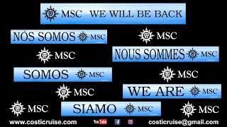 WE ARE MSC FAMILY & WE WILL BE BACK !!!