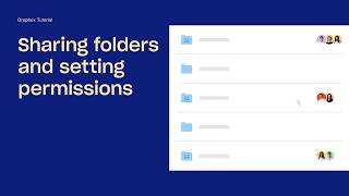 Sharing folders and setting permissions | Dropbox Tutorials | Dropbox