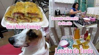 Vlog: Lanche da Tarde - Preparando a Marmita do Marido - Fazendo o Jantar