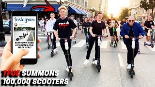 100,000 Electric Scooters Vs. The Streets Of California!! Ft. TFUE