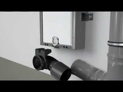 התקנת מיכל הדחה לקיר בלוק