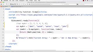 jQuery: Use $.map() Method to Translate All Items in an Array