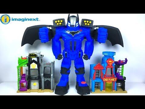 ROBOT GIGANTE BATBOT EXTREME DE BATMAN IMAGINEXT - CAMBIADOR DE VOZ  JUGUETES DIVERTIDOS PARA NINOS