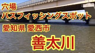 善太川穴場バス釣りポイント愛知県愛西市ブラックバス