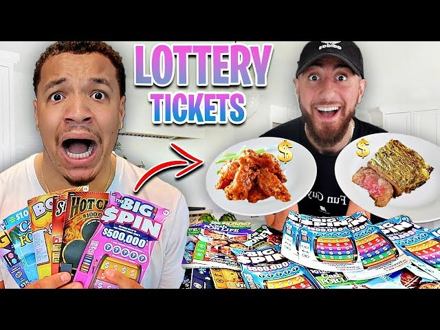 Letting LOTTERY TICKETS Decide How Much I Spend On Food!! *WE WON* (24 Hour Challenge) CHADWITHAJ