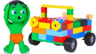 WHAT HAPPENED TO MY CAR? ❤ SUPERHERO PLAY DOH CARTOONS FOR KIDS