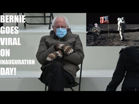 Bernie Sanders GOES VIRAL On Inauguration Day For His Mittens, Jacket, & Look, His Memes Go Viral!