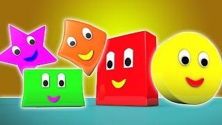 hình dạng bài hát | trẻ em bài hát | học hình dáng | bé Video | The Shapes Song | Shapes For Kids