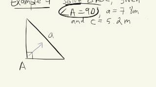 Solving Right Triangles 7.5 Grade 10 Academic 01 08 13