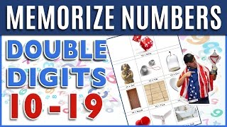 How to Memorize Numbers • 10-19 Double Digits | Major System Memory Training Techniques