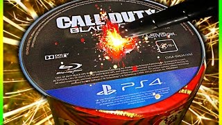 BLOWING UP BO3 DISC WITH FIREWORKS!!! (Top 5 Bo3 Zombie Fails Week 33)