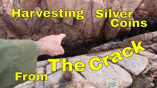 Harvesting Silver Coins From The Crack