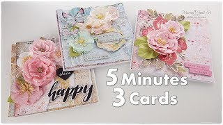 3 Cards In 5 Minutes ♡ Beginners Cardmaking Tutorial ♡ Maremis Small Art ♡