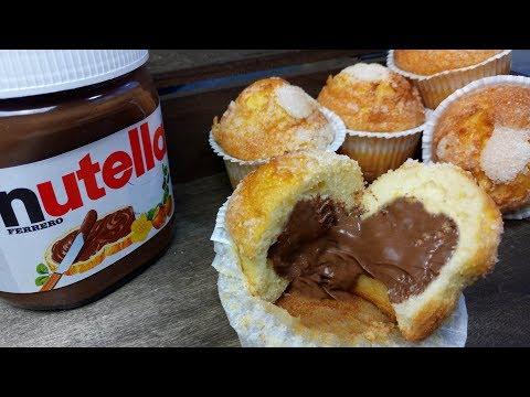 MAGDALENAS RELLENAS DE NUTELLA , SUPER ESPONJOSAS