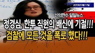 (일일뉴스) 조국 부인 정경심, 한투 직원의 폭로와 배신에 기절! / 신의한수 19.09.17