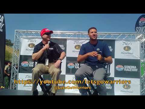 Klay Thompson Q&A at Sonoma Raceway before acting as Grand Marshal for the GoPro Grand Prix