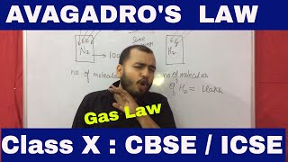 Avagadro's Law : Avagadro's Hypothesis : Class X : CBSE / ICSE :  Mole Concept : Gas Law