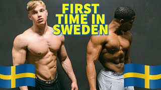 FLYING TO SWEDEN FOR THE FIRST TIME 🇸🇪| Trying Swedish Foods | Growing Shoulders And Arms ft. Oliver