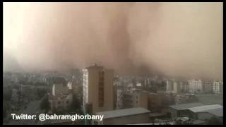 preview picture of video 'violent storm in tehran'